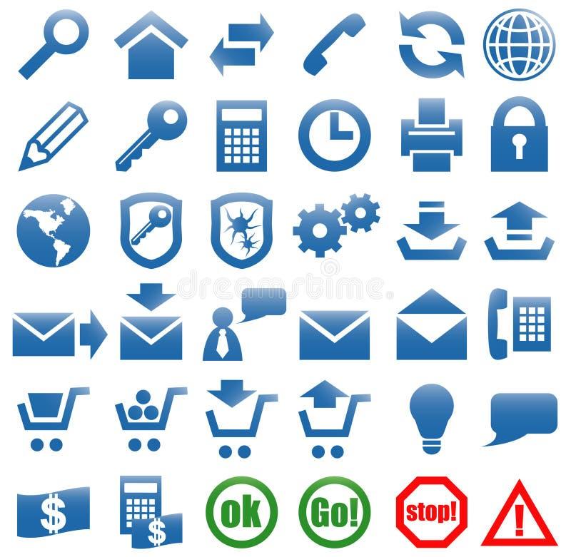 Ikonen für das Web site Internet. vektor abbildung