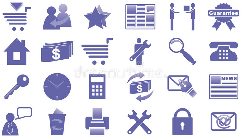 Ikonen für Internet und Web site. stock abbildung