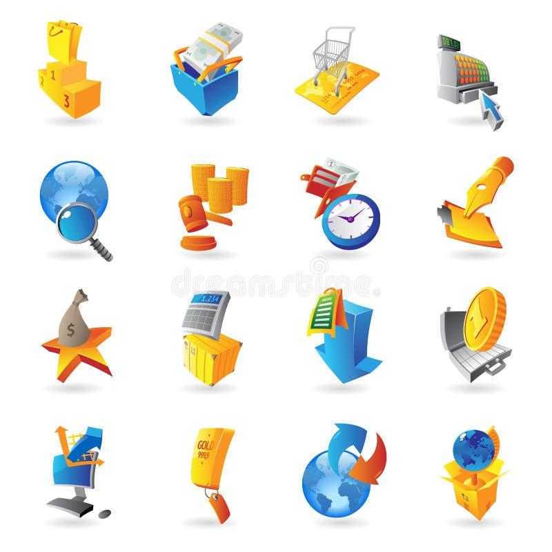 Ikonen für Kleinhandel stock abbildung