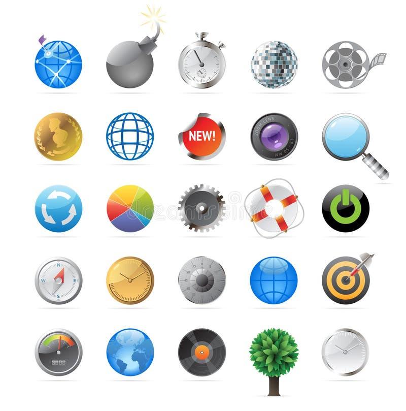 Ikonen für Kreise lizenzfreie abbildung