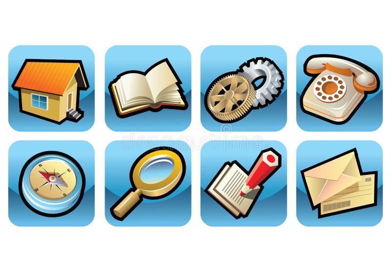 Ikonen für Web site lizenzfreie abbildung