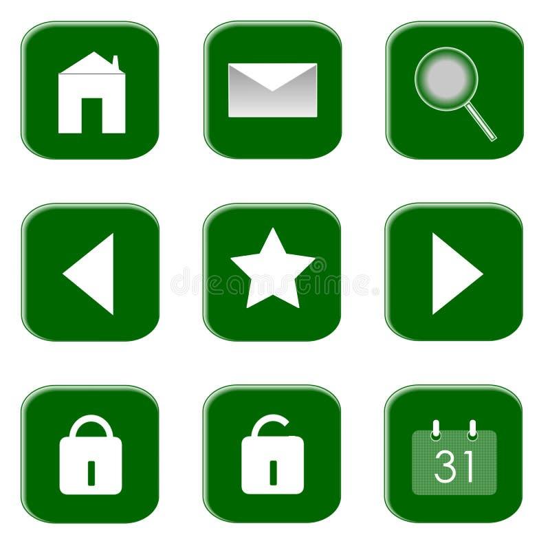 Ikonen für Web site und Internet lizenzfreie stockbilder