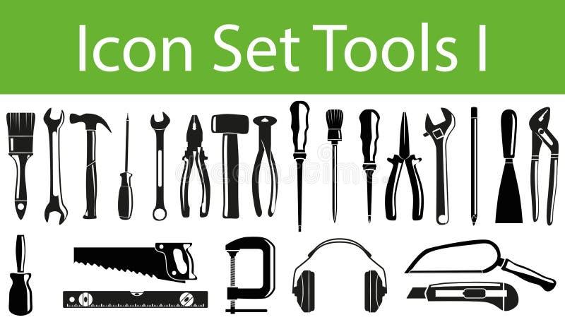 Ikonen-gesetzte Werkzeuge I lizenzfreie abbildung