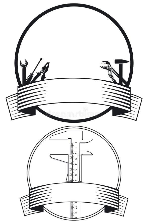 Ikonen mit Handhilfsmitteln lizenzfreie abbildung