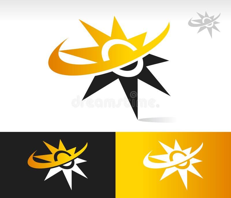 Download Ikonen Sun-Swoosh vektor abbildung. Illustration von solar - 27732023