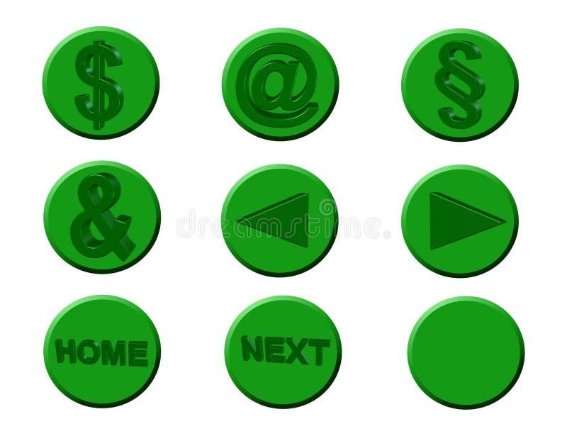 Ikonen, Symbole, lizenzfreie abbildung