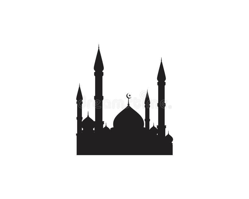 Ikonen-Vektor Illustration der Moschee moslemische lizenzfreie abbildung