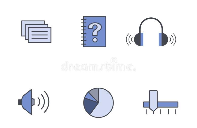 Ikonen-vektorformat stock abbildung