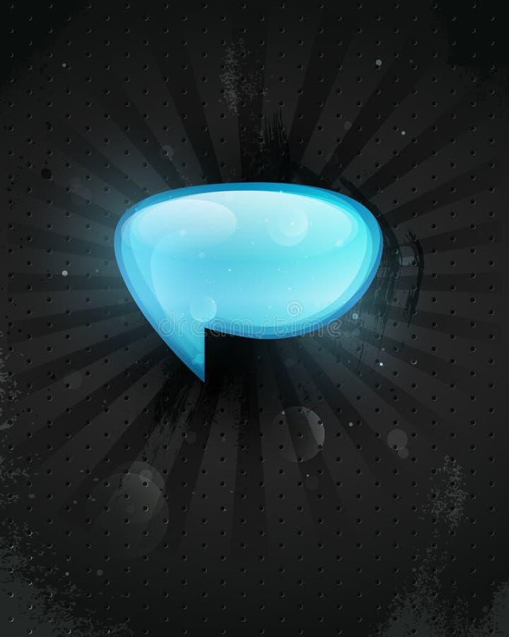 Ikonen-vektorglas, ein Symbol der Pfosten, kommentiert. lizenzfreie abbildung