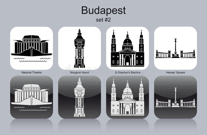 Ikonen von Budapest vektor abbildung