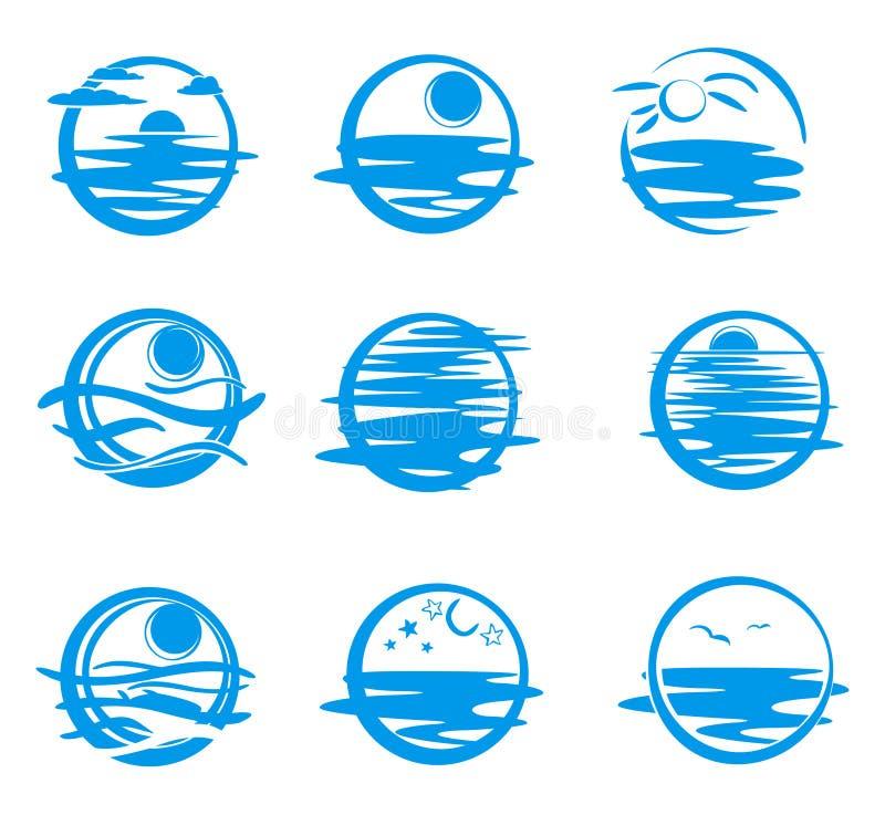 Ikonen von Meer. vektor abbildung