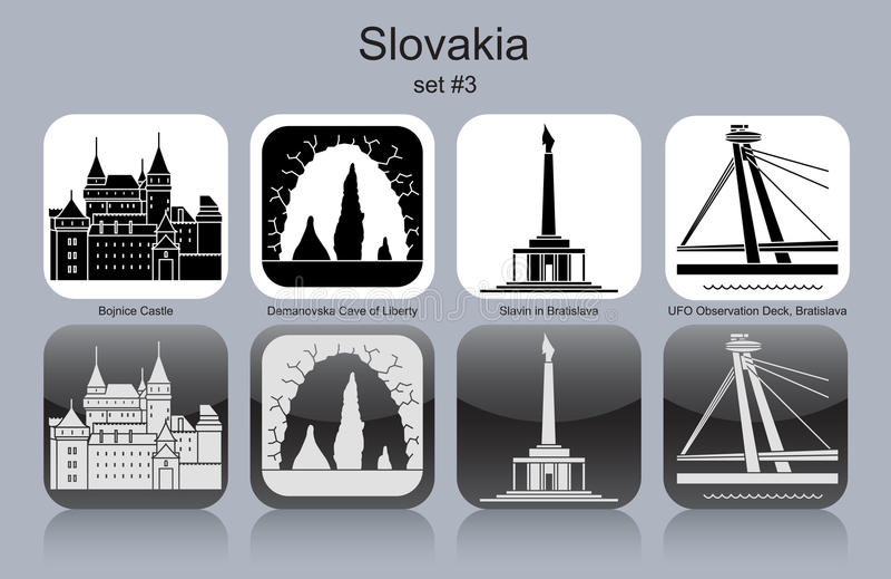 Ikonen von Slowakei lizenzfreie abbildung