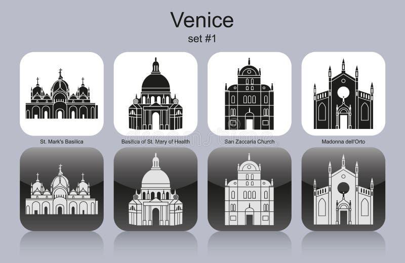 Ikonen von Venedig stock abbildung