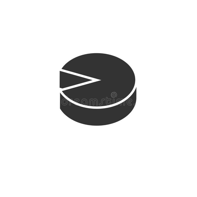 Ikonen-wachsendes Kreisdiagramm Gesch?ft Auch im corel abgehobenen Betrag graphik Auf wei?em Hintergrund vektor abbildung