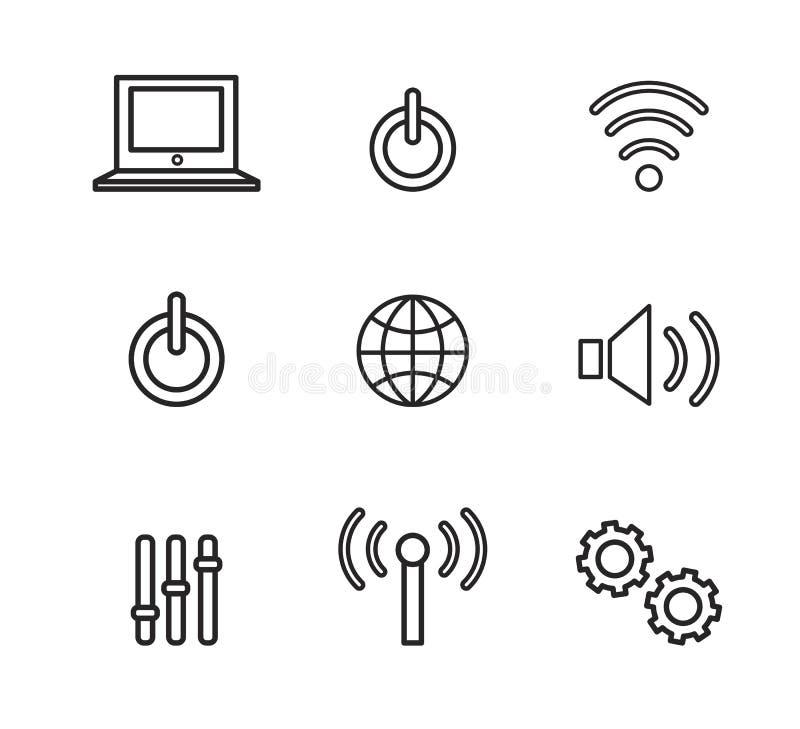 Ikonen, Zeichen und Symbole können für Netz, Logo, mobiler App verwendet werden, stock abbildung