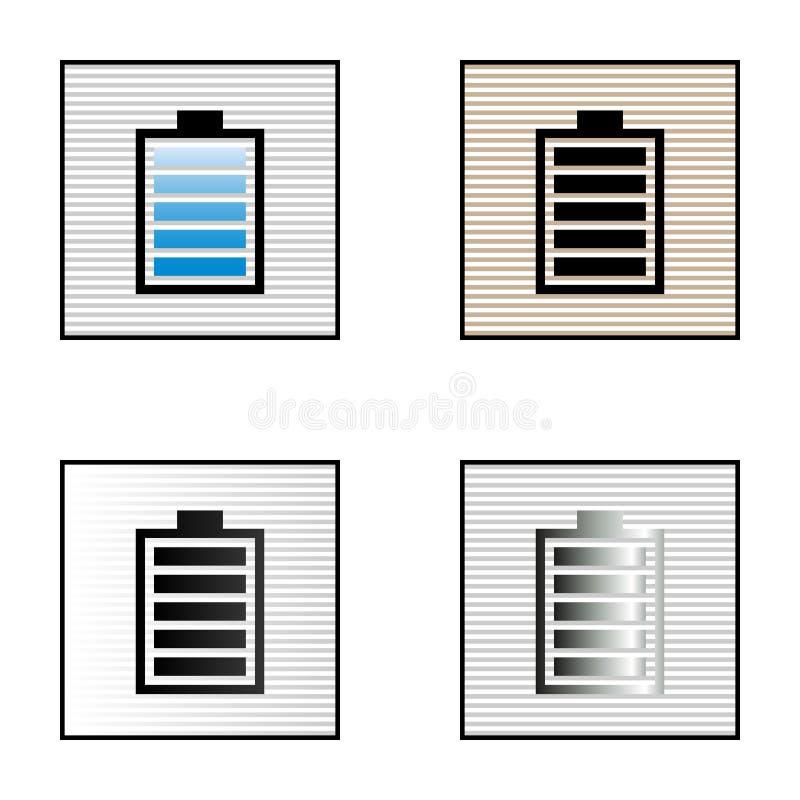 Ikonen zeigt Gebührenniveau an stockbild