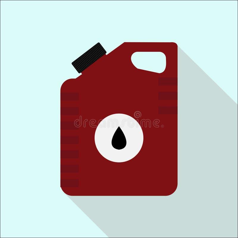 Ikonendosen Motoröl Halten Sie Konzept instand flach vektor abbildung