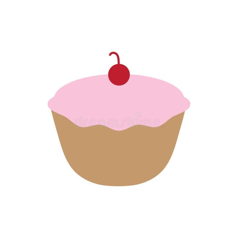 Ikonenentwurfsschablonen-Vektorillustration des kleinen Kuchens lokalisierte lizenzfreie abbildung