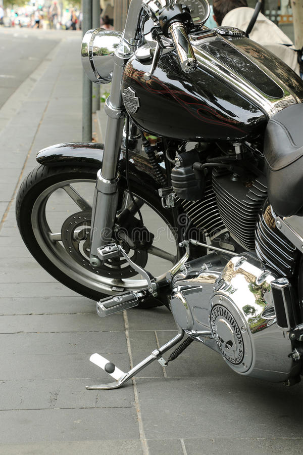 Ikonenhafte Harley-Davidson ist ein amerikanischer Motorradhersteller, der in Milwaukee, Wisconsin im Jahre 1903 gegründet wird stockfotos
