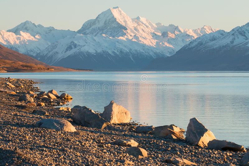 Ikonenhafter Berg von Neuseeland mt Koch/Aoraki bei Sonnenaufgang lizenzfreies stockfoto