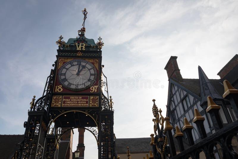 Ikonenhafter Glockenturm von Chester lizenzfreie stockfotografie