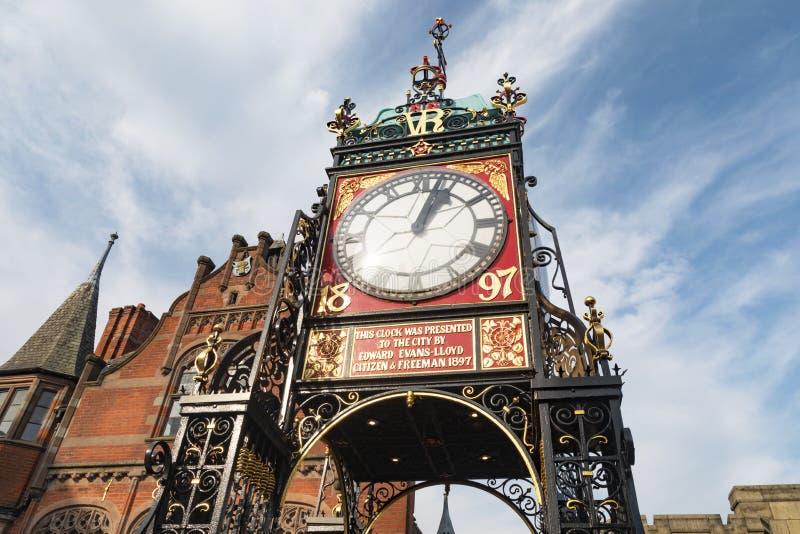 Ikonenhafter Glockenturm von Chester lizenzfreies stockfoto
