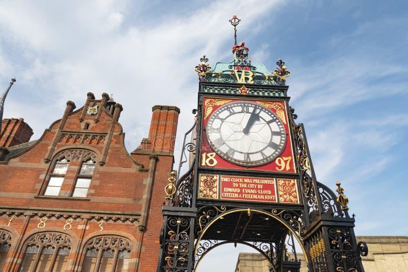 Ikonenhafter Glockenturm von Chester lizenzfreie stockbilder