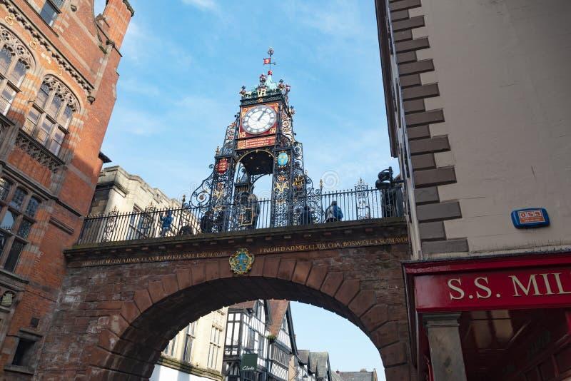 Ikonenhafter Glockenturm von Chester stockfotografie