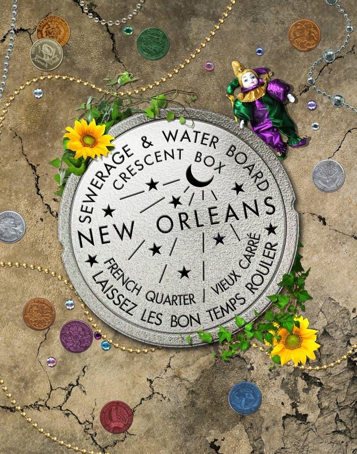 Ikonenhafter Wasserzähler New Orleans lizenzfreie abbildung