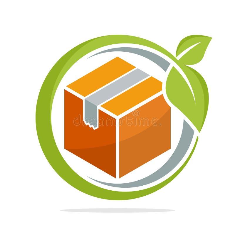 Ikonenillustrationen mit dem Konzept von umweltfreundlichen Verpackungslösungen vektor abbildung