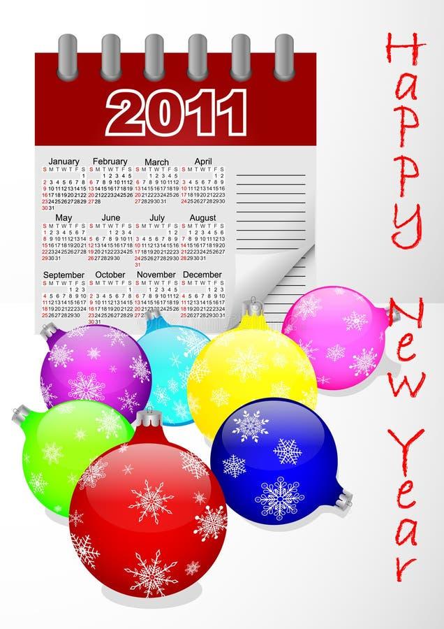 Ikonenkalender für Vektor des Jahres 2011. stock abbildung