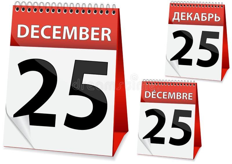 Ikonenkalender Weihnachten stock abbildung