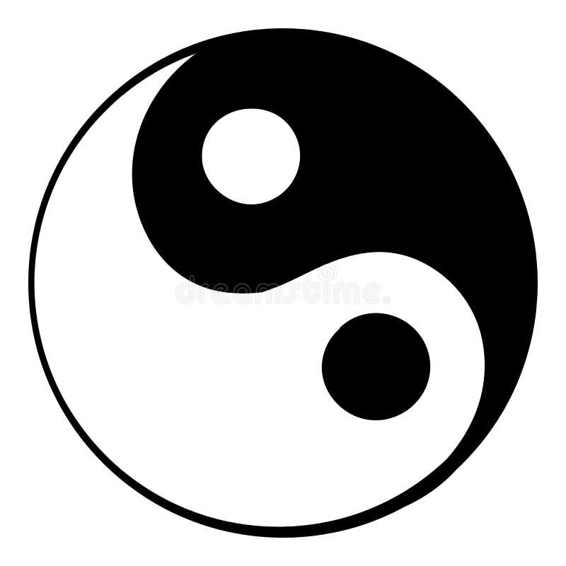 Ikonenkarikatur Ying Yang stock abbildung