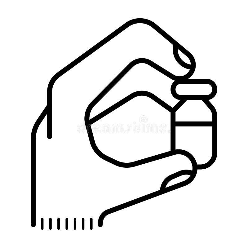 Ikonenpillen in der Hand vektor abbildung