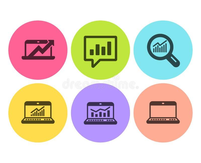 Ikonensatz analytisches Schwätzchen, Datenanalyse und Netz Analytics Vektor vektor abbildung