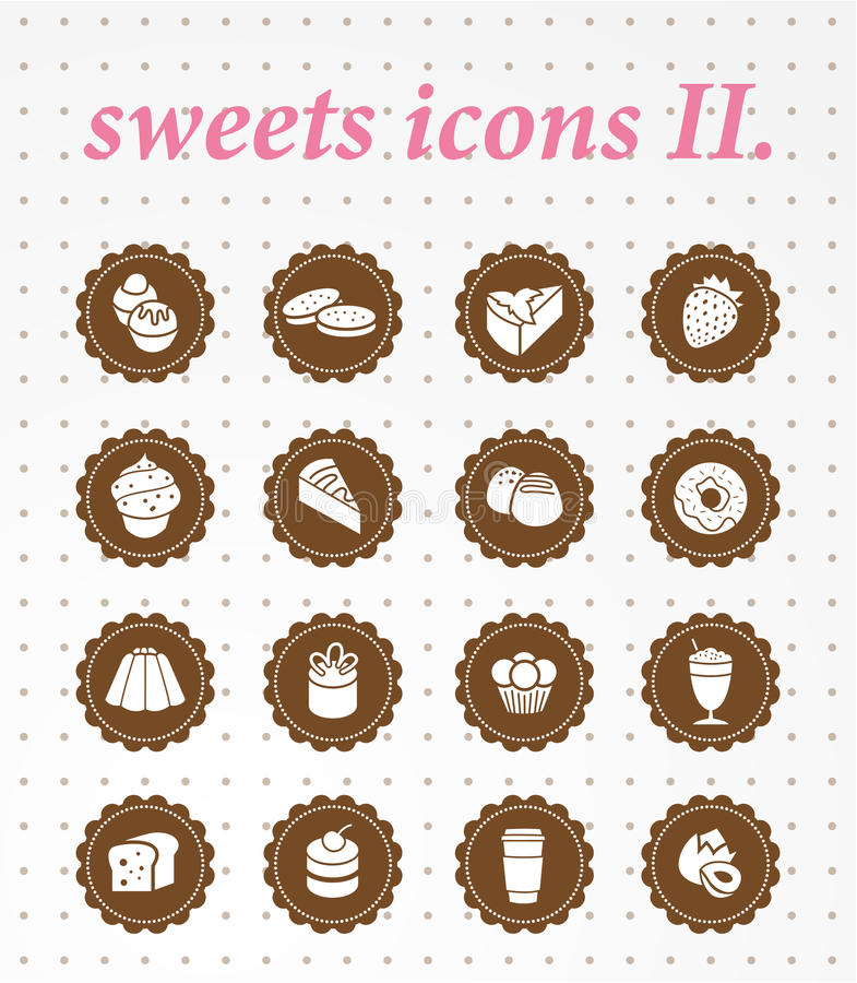 Ikonensatz der Bonbons icons.vector. vektor abbildung