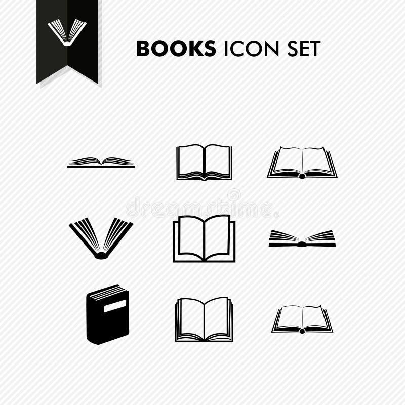 Ikonensatz der grundlegenden Bücher lokalisiert lizenzfreie abbildung