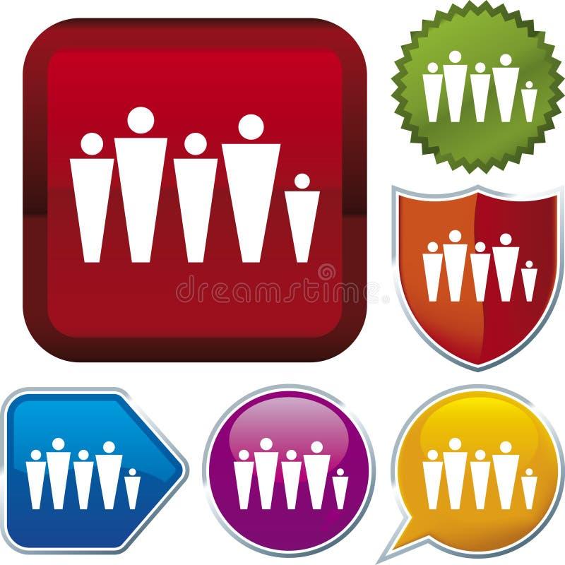 Ikonenserie: Familie (Vektor) stock abbildung