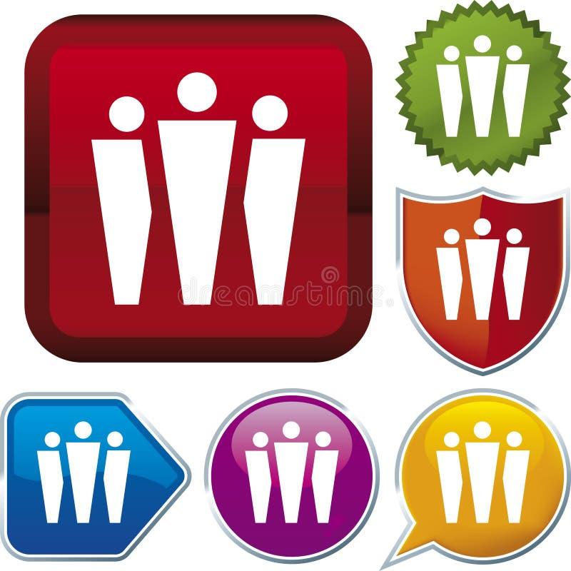 Ikonenserie: Gruppe (Vektor) stock abbildung