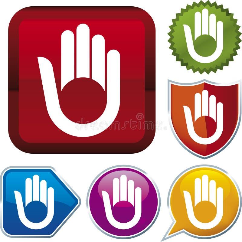 Ikonenserie: Hand (Vektor) lizenzfreie abbildung