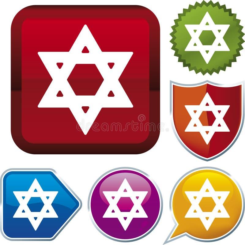 Ikonenserie: jüdisch vektor abbildung