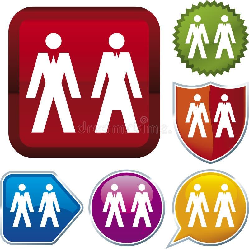 Ikonenserie: Leute (Vektor) lizenzfreie abbildung