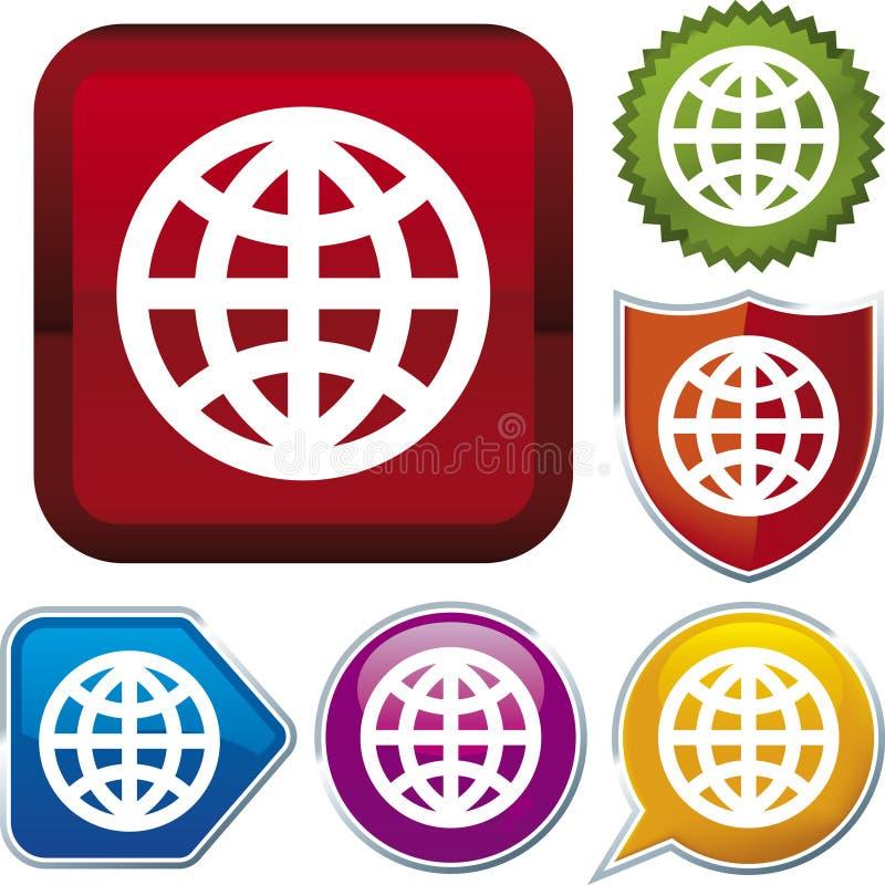 Ikonenserie: Welt (Vektor) lizenzfreie abbildung