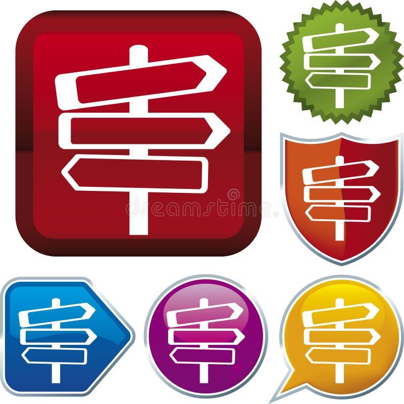 Ikonenserie: Zeichen (Vektor) stock abbildung