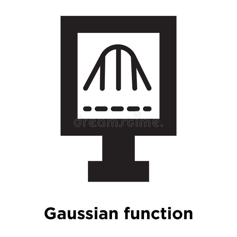 Ikonenvektor der Gaußschen Funktion lokalisiert auf weißem Hintergrund, Logo lizenzfreie abbildung