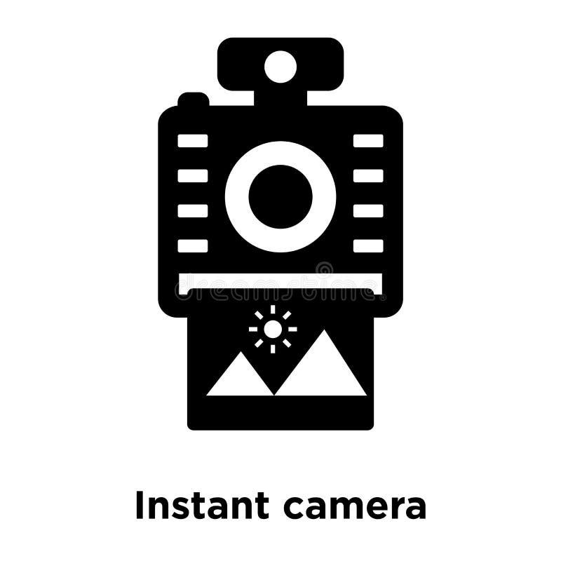 Ikonenvektor der sofortigen Kamera lokalisiert auf weißem Hintergrund, Logo Co vektor abbildung