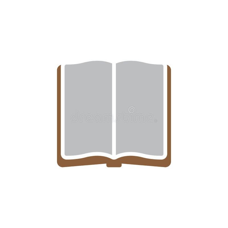 Ikonenvektor des offenen Buches, gefülltes flaches Zeichen, festes buntes Piktogramm lokalisiert auf Weiß stock abbildung