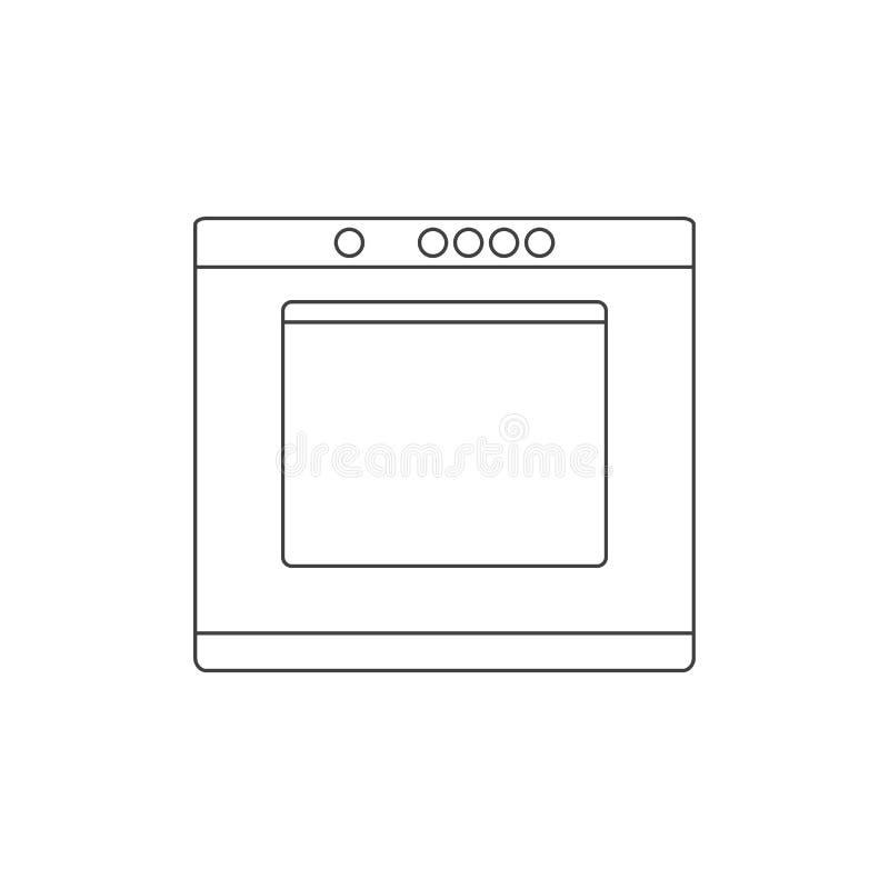 Ikonenvektor-Entwurfsillustration des Ofenentwurfs flache stock abbildung