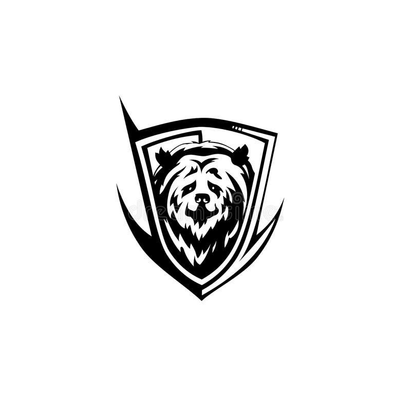Ikonenvektor illutration des schwarzen Bären vektor abbildung