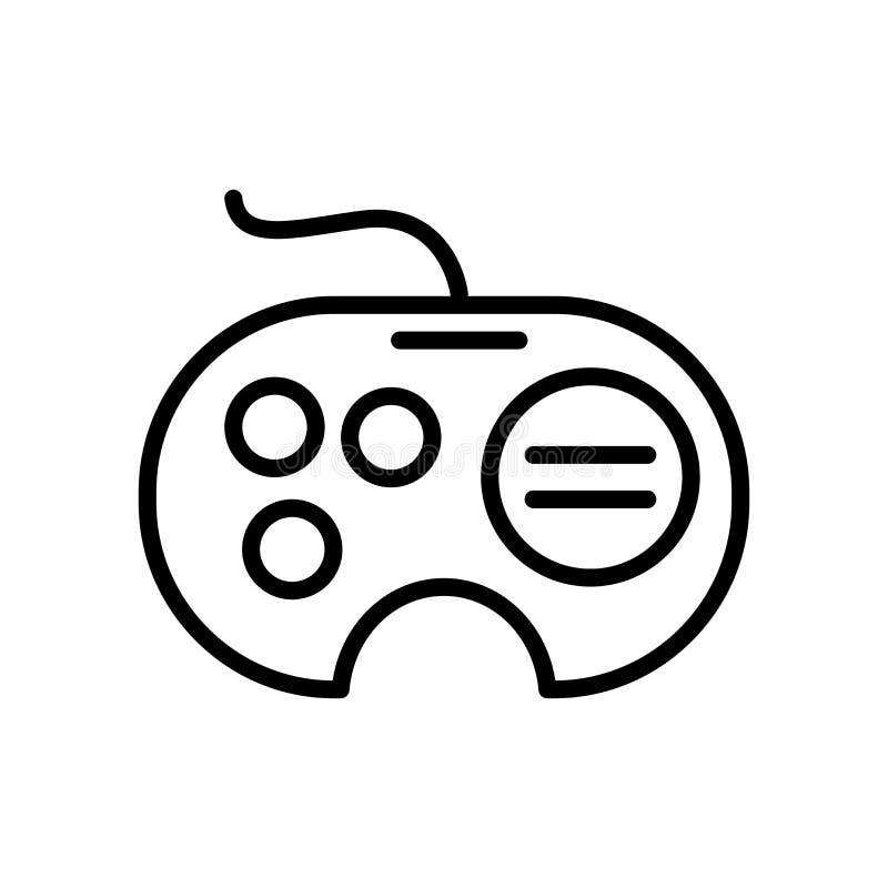 Ikonenvektor Segas Gamepad lokalisiert auf weißem Hintergrund, Sega-Spiel stock abbildung